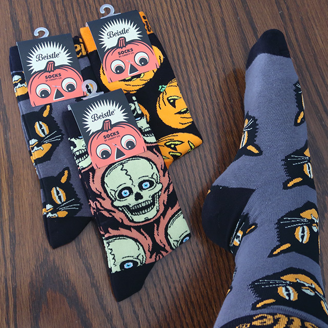 Spooky socks with Beistle designs by Creepy Company