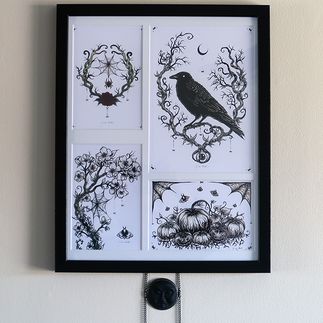 Four prints from Grace Moth framed together