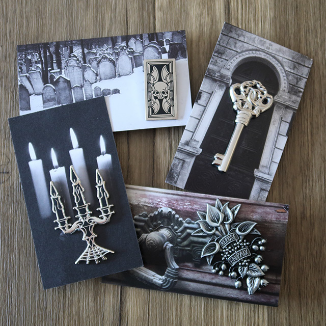 A selection of Gothic pins by Nothing Pins