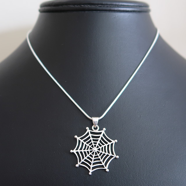 Spider Web Pendant (925 Sterling Silver)