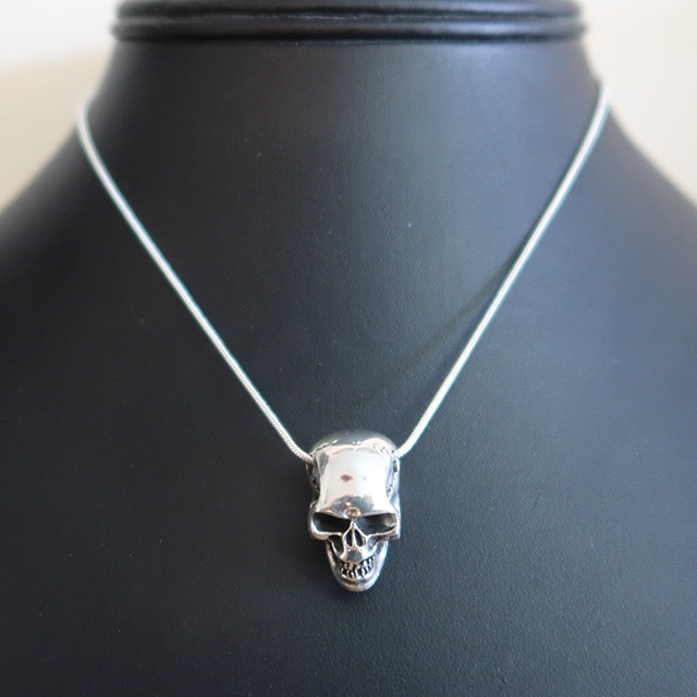 Solid 3D Skull Pendant (925 Sterling Silver)